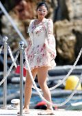 Kylie Jenner looks stunning in floral print minidress while enjoying a day in the South of France