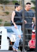 Kylie Jenner spotted in a black top and jeans while out for dinner at Nobu in Malibu, California
