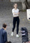 Lily Collins spotted on set of 'Emily in Paris' TV show in Paris, France