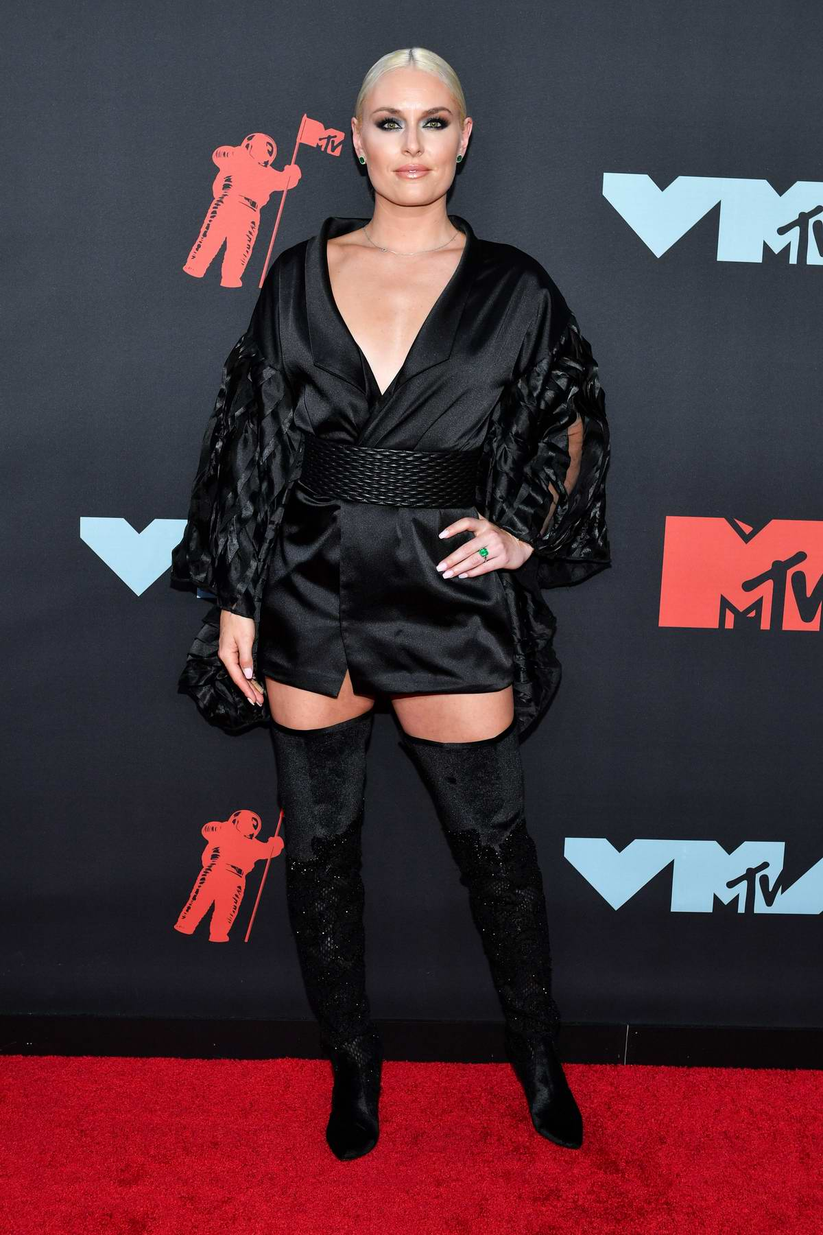 Lindsey Vonn attends the 2019 MTV Video Music Awards at Prudential Center in Newark, New Jersey