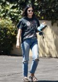 Lucy Hale keeps it casual with a t-shirt and jeans while out in Los Angeles