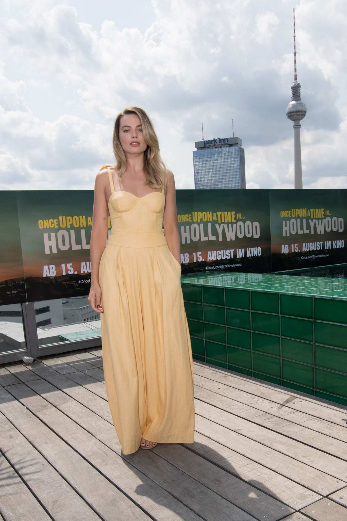 Margot Robbie attends a photocall ahead of the German premiere of 'Once upon a time in Hollywood' in Berlin, Germany