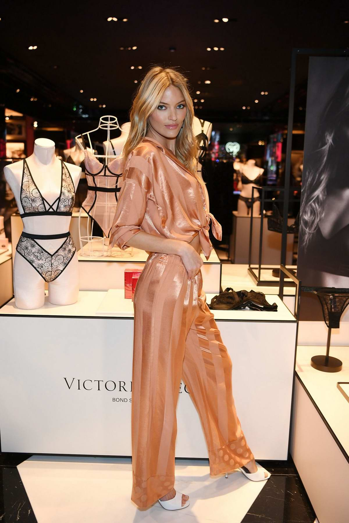Martha Hunt attends the debut of Victoria's Secret new Fall Collection at The Forum Shoppes in Las Vegas, Nevada