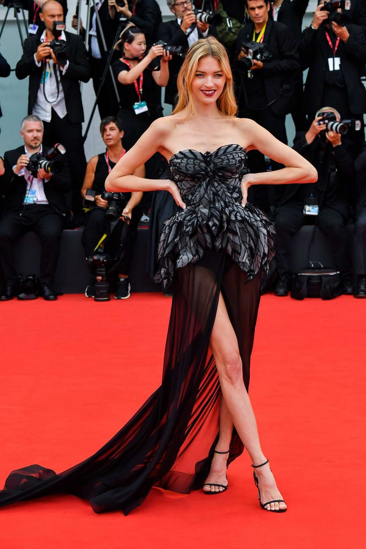 Martha Hunt attends the Opening Ceremony and 'La Vérité' (The Truth) screening during the 76th Venice Film Festival in Venice, Italy