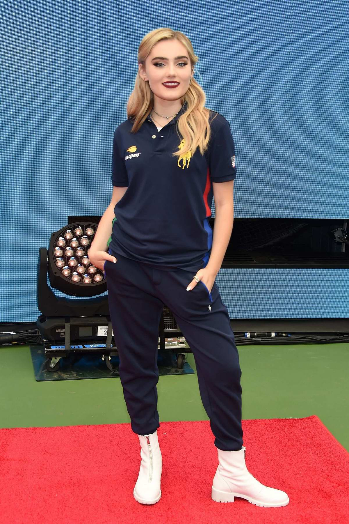 Meg Donnelly attends the Arthur Ashe Kids' Day in New York City