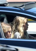 Miley Cyrus and Kaitlynn Carter spotted while driving around in a Tesla in Los Angeles