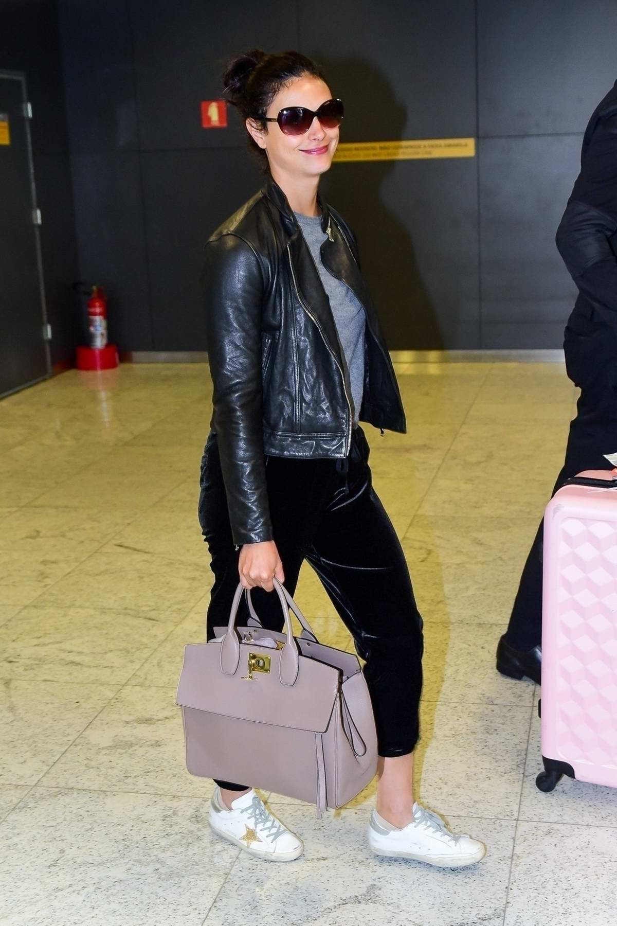 Morena Baccarin arrives at Guarulhos International Aiport in Sao Paulo, Brazil
