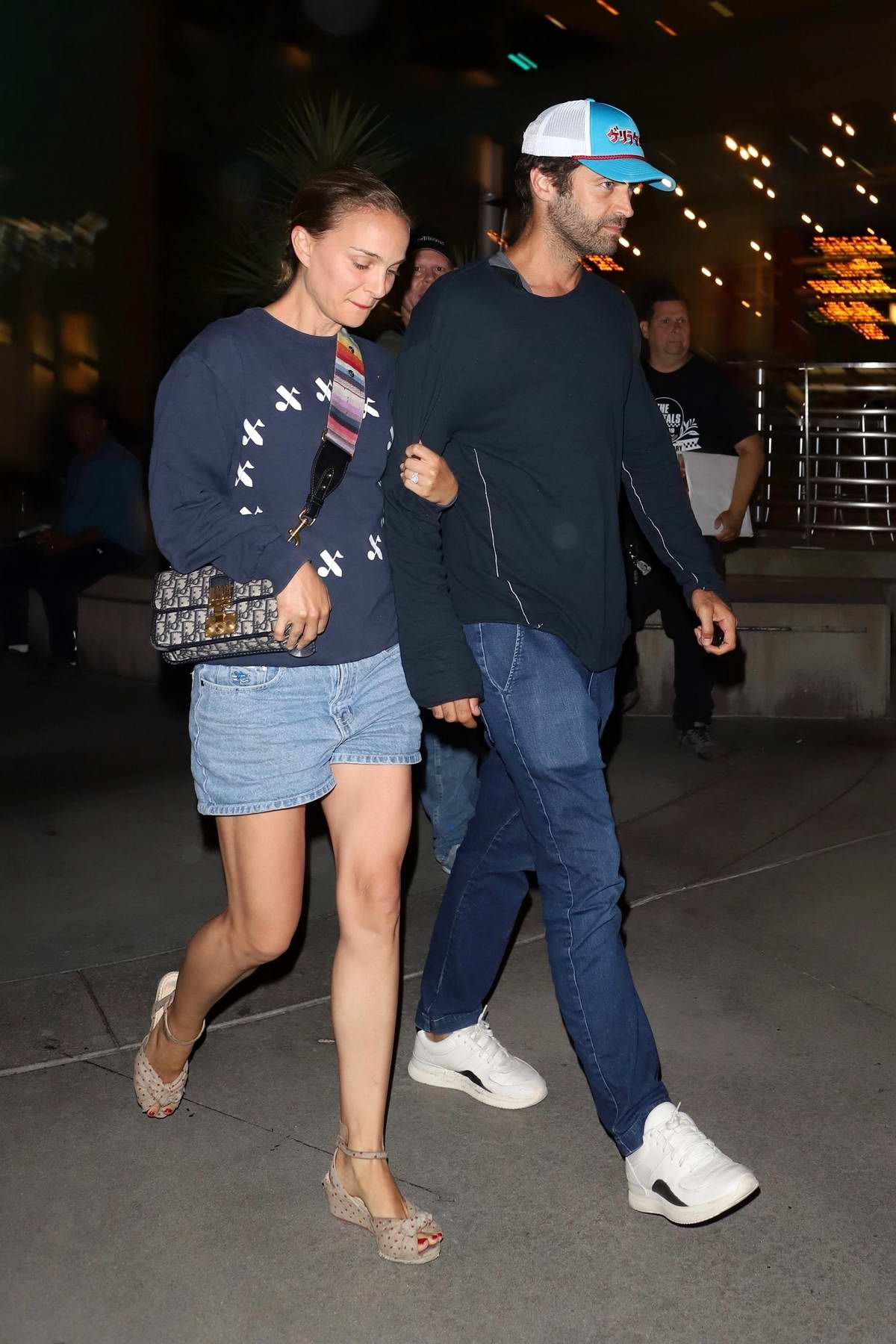 Natalie Portman and husband Benjamin Millepied enjoy a movie date night at Arclight in Hollywood, California