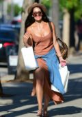 Nikki Bella looks summer chic in a rust colored maxi dress while out for some shopping in Los Angeles
