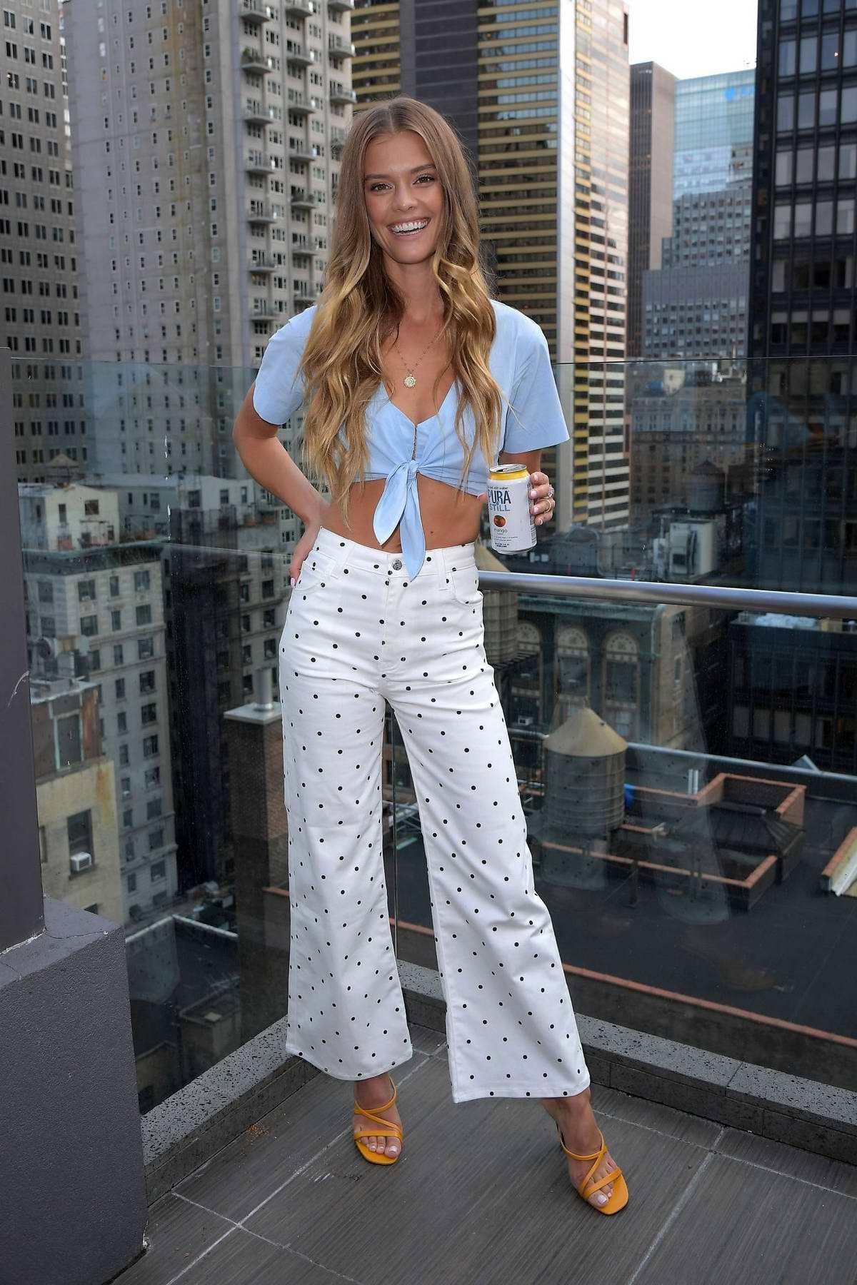 Nina Agdal celebrates at Pura Still spiked water bash in New York City