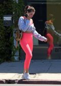 Olivia Culpo stands out in bright pink leggings as she steps out in West Hollywood, Los Angeles