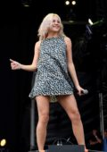 Pixie Lott performing at the BBC Summer Social at Croxteth Park in Liverpool, UK