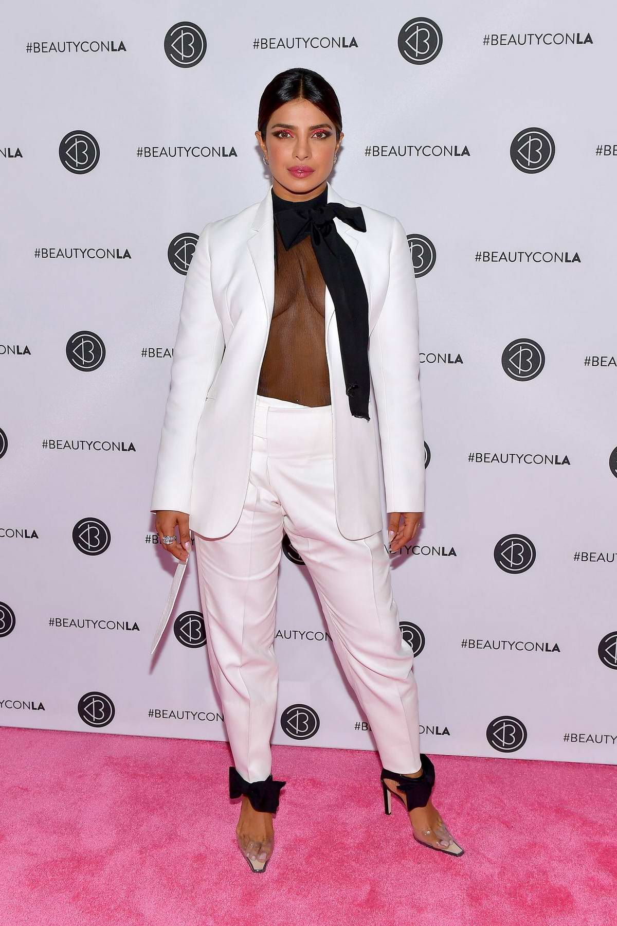 Priyanka Chopra attends BeautyCon Los Angeles 2019 Pink Carpet at LA Convention Center in Los Angeles