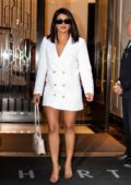 Priyanka Chopra keeps it business casual as she steps in a white blazer dress in Tribeca, New York City