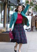 Rachel Brosnahan seen on the set of 'The Marvelous Mrs. Maisel' in New York City