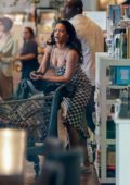 Rihanna spotted while shopping groceries with a friend at Westfield Mall in Los Angeles