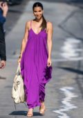 roselyn sanchez wears a purple dress as she arrives at jimmy kimmel live! in hollywood, california-130819_8