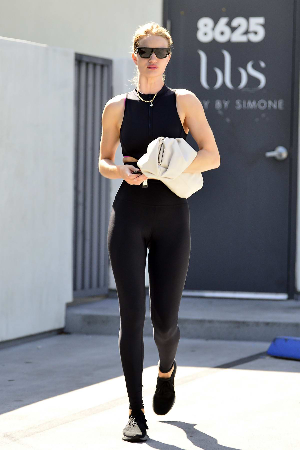 Rosie Huntington-Whiteley looks great as she leaves after a morning Pilates class in West Hollywood, Los Angeles
