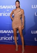 Shanina Shaik attends the UNICEF Summer Gala Presented by LUISAVIAROMA in Sardinia, Italy