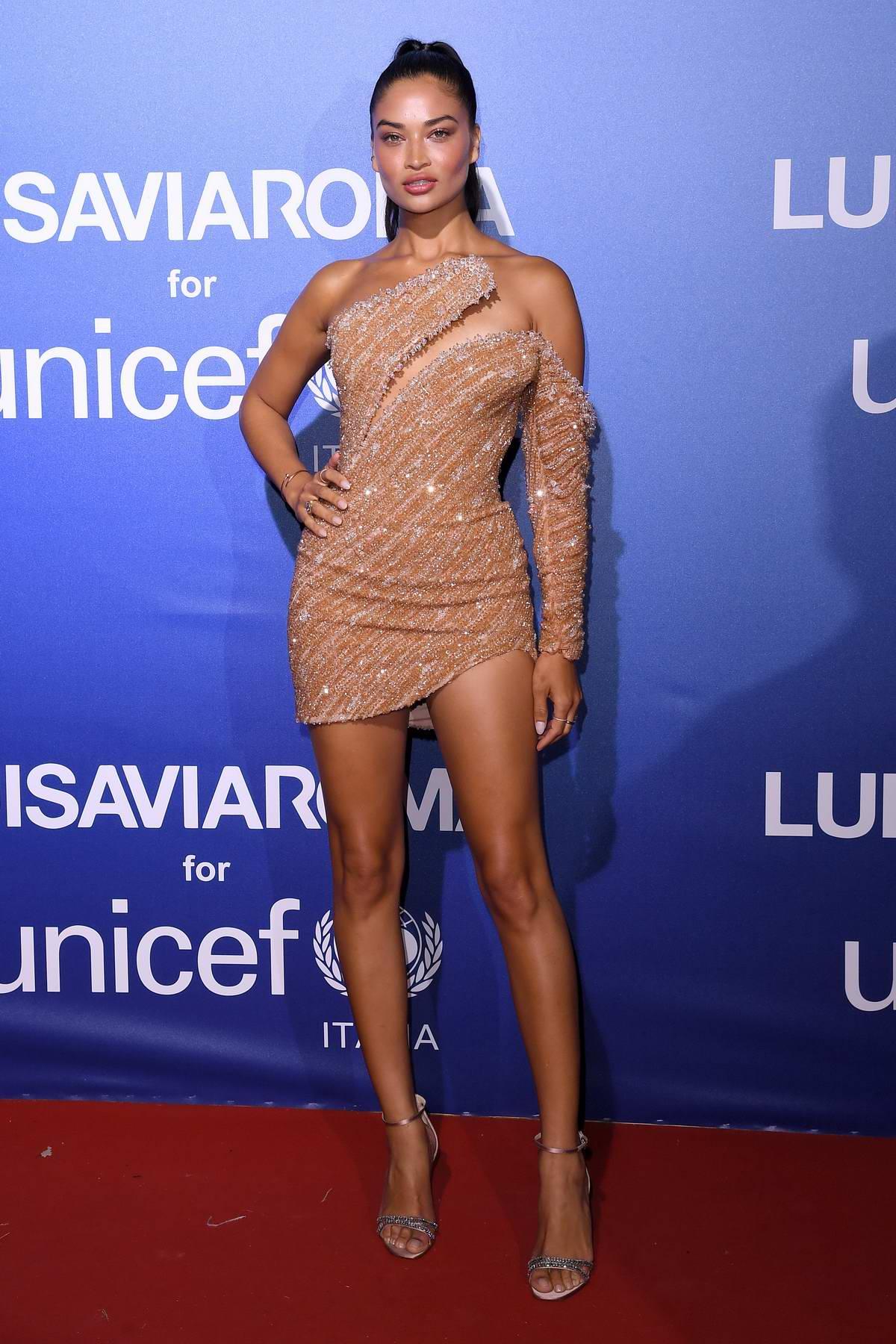 Shanina Shaik attends the UNICEF Summer Gala Presented by LUISAVIAROMA in Sardinia, Italy