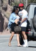 Shay Mitchell and Matte Babel arrive for a Sunday afternoon BBQ in Malibu, California
