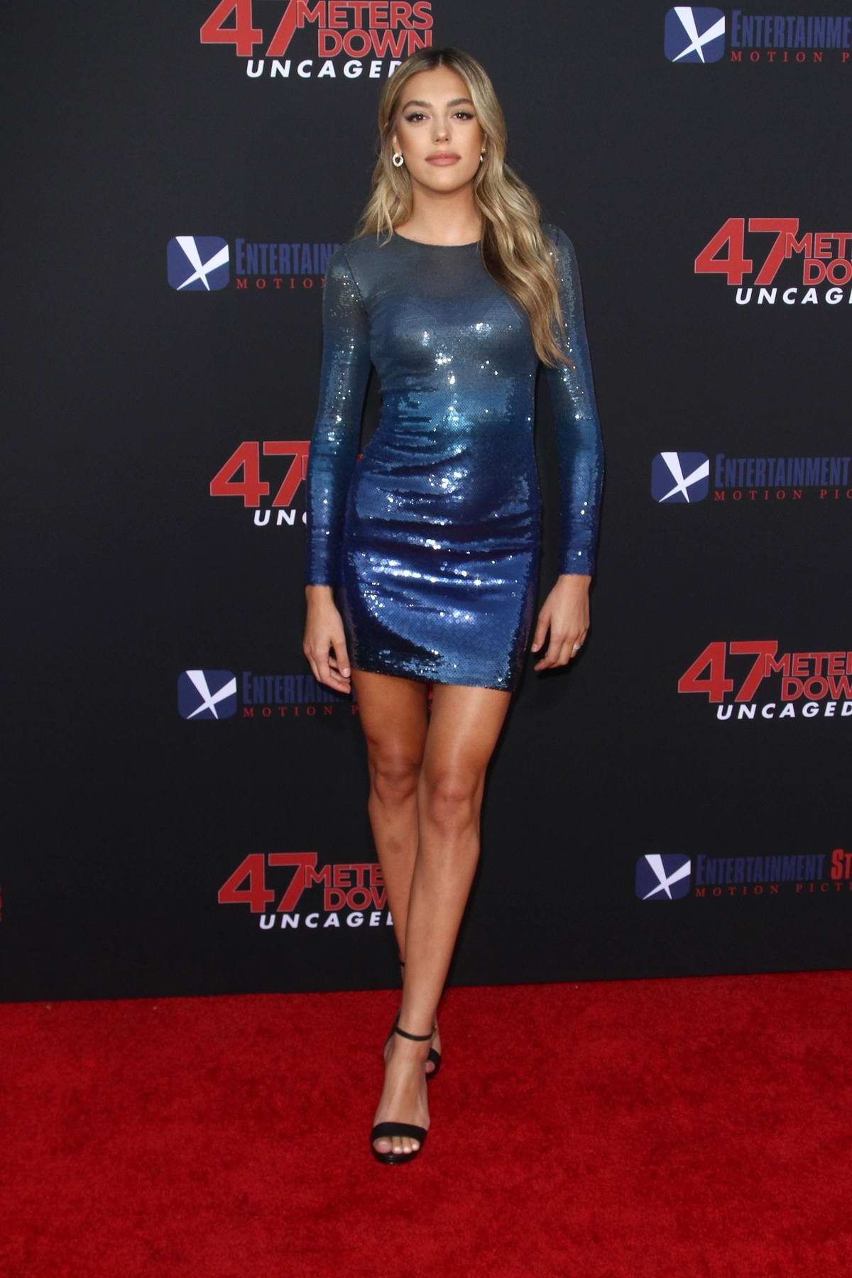 Sistine Stallone attends '47 Meters Down: Uncaged' Premiere at Regency Village Theatre in Westwood, California