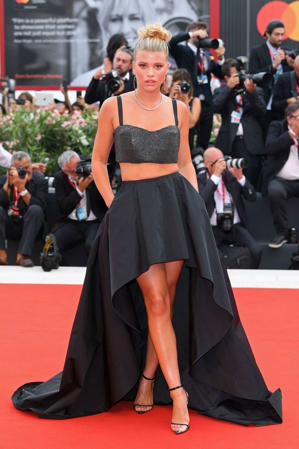 Sofia Richie attends the Opening Ceremony and 'La Vérité' (The Truth) screening during the 76th Venice Film Festival in Venice, Italy