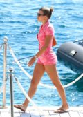 Sofia Richie dressed in a pink Chanel playsuit as she enjoys a day in the South of France