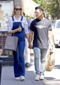 Sophie Turner seen holding hands with Joe Jonas after a shopping trip to Dita and REI stores in SoHo, New York City