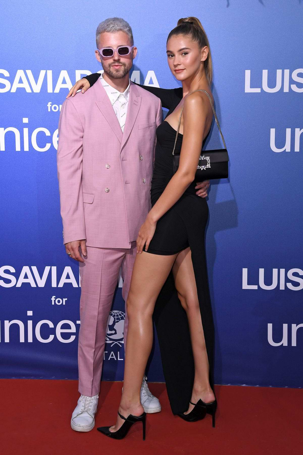 Stefanie Giesinger attends the UNICEF Summer Gala Presented by LUISAVIAROMA in Sardinia, Italy