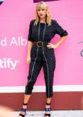 Taylor Swift attends mural installation of her new album 'Lover' in New York City