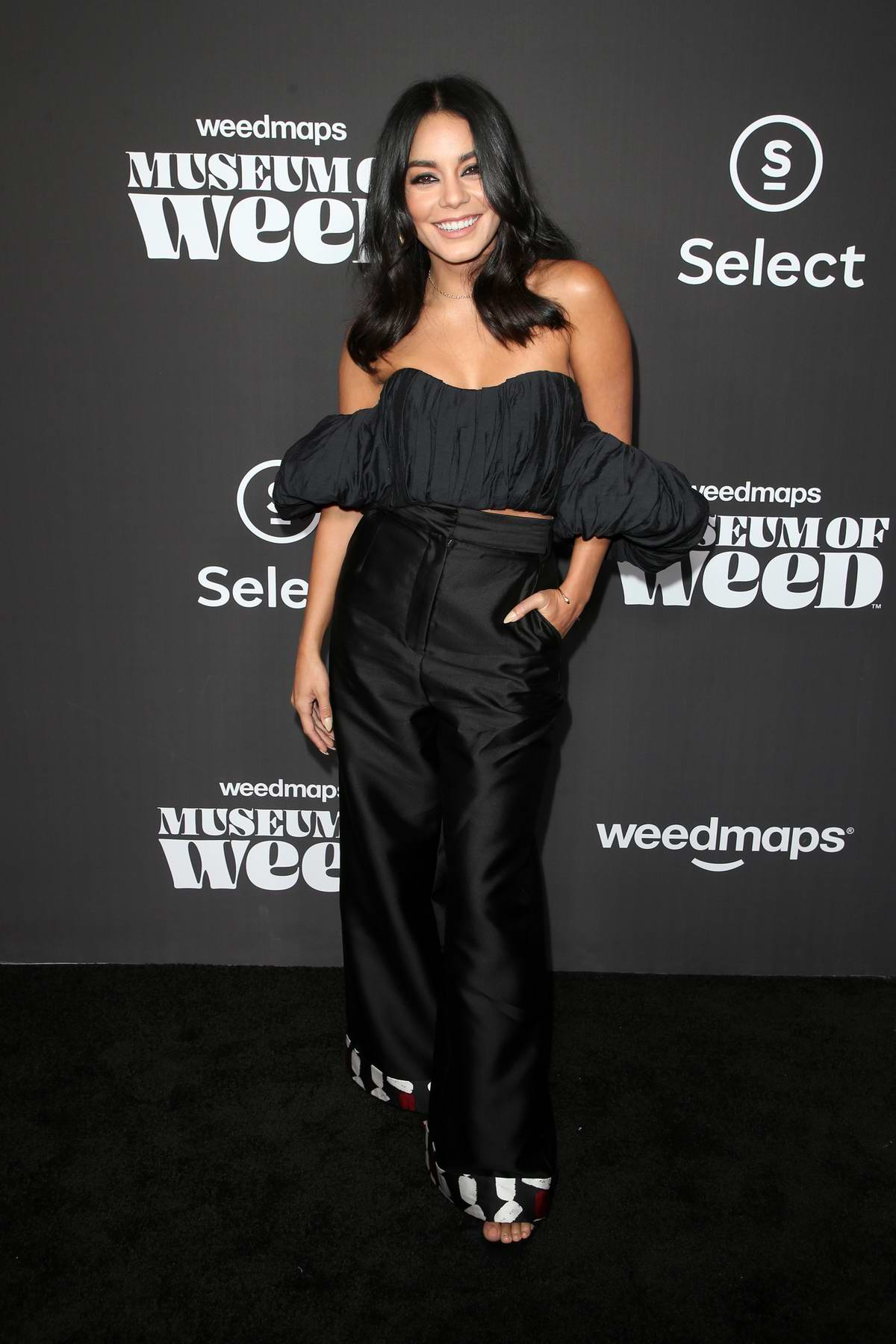 Vanessa Hudgens attends the Weedmaps Museum of Weed Exclusive Preview Celebration in Hollywood, California