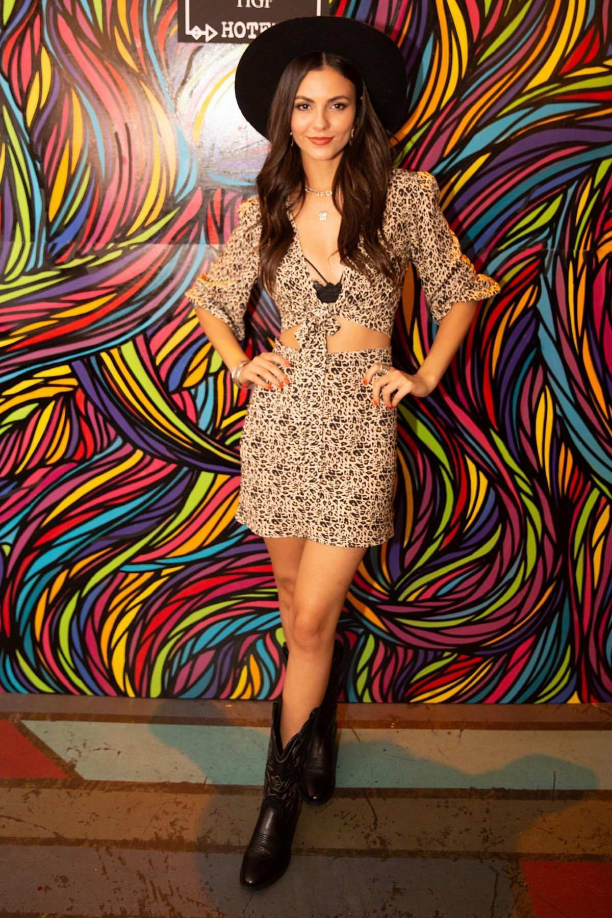 Victoria Justice attends the Bed Head Festival Pop-Up at the Freehand Hotel in Chicago, Illinois