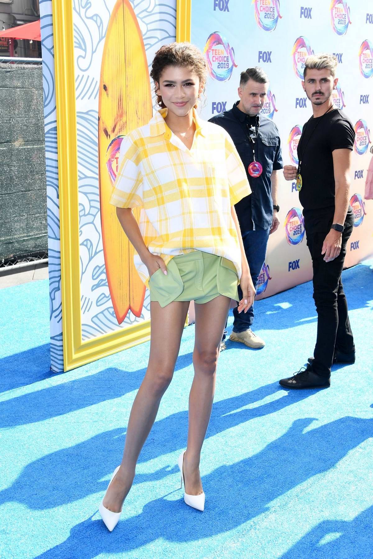 Zendaya Attends The Fox S Teen Choice Awards 2019 In Hermosa Beach California