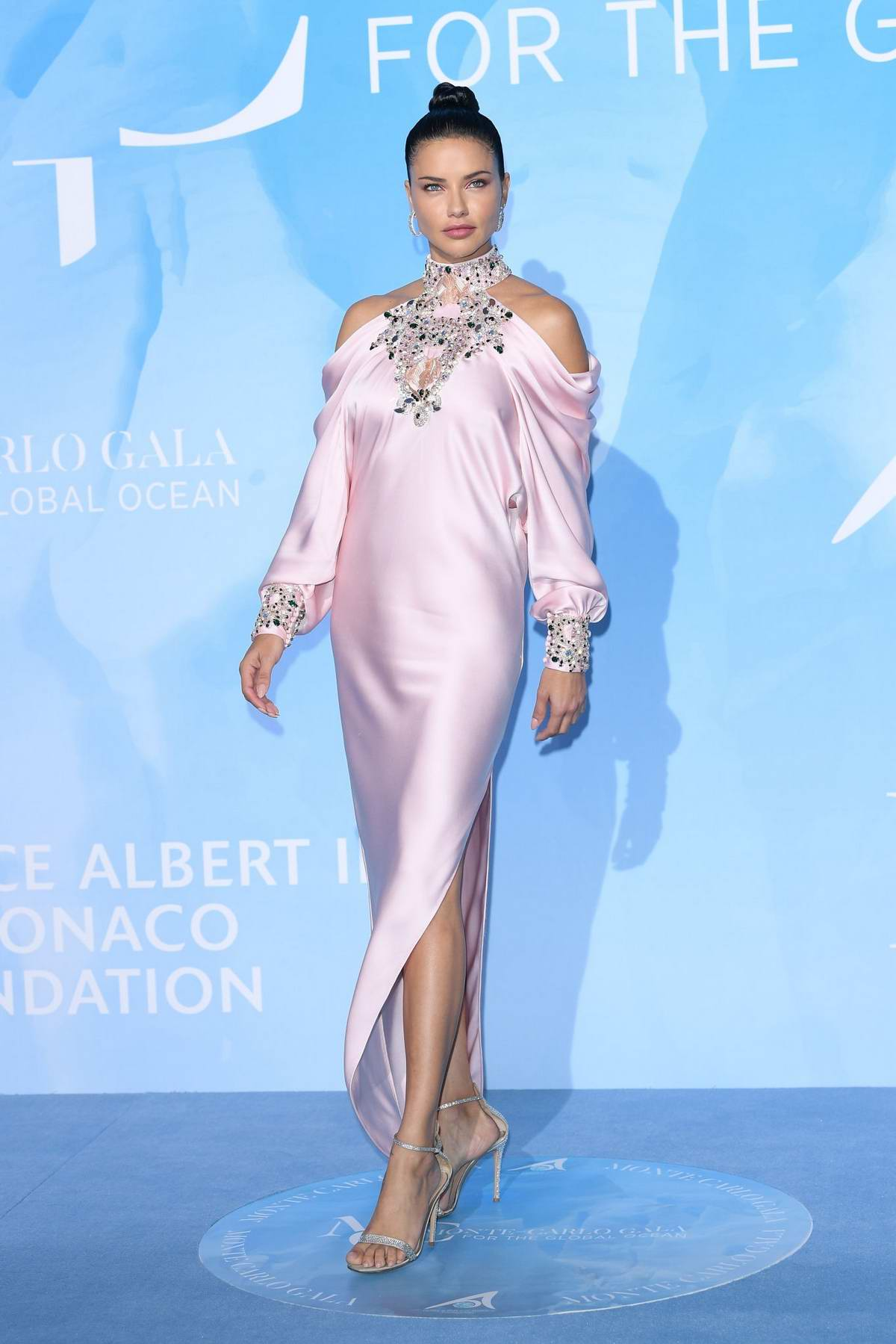 Adriana Lima attends the Gala for the Global Ocean in Monte Carlo, Monaco