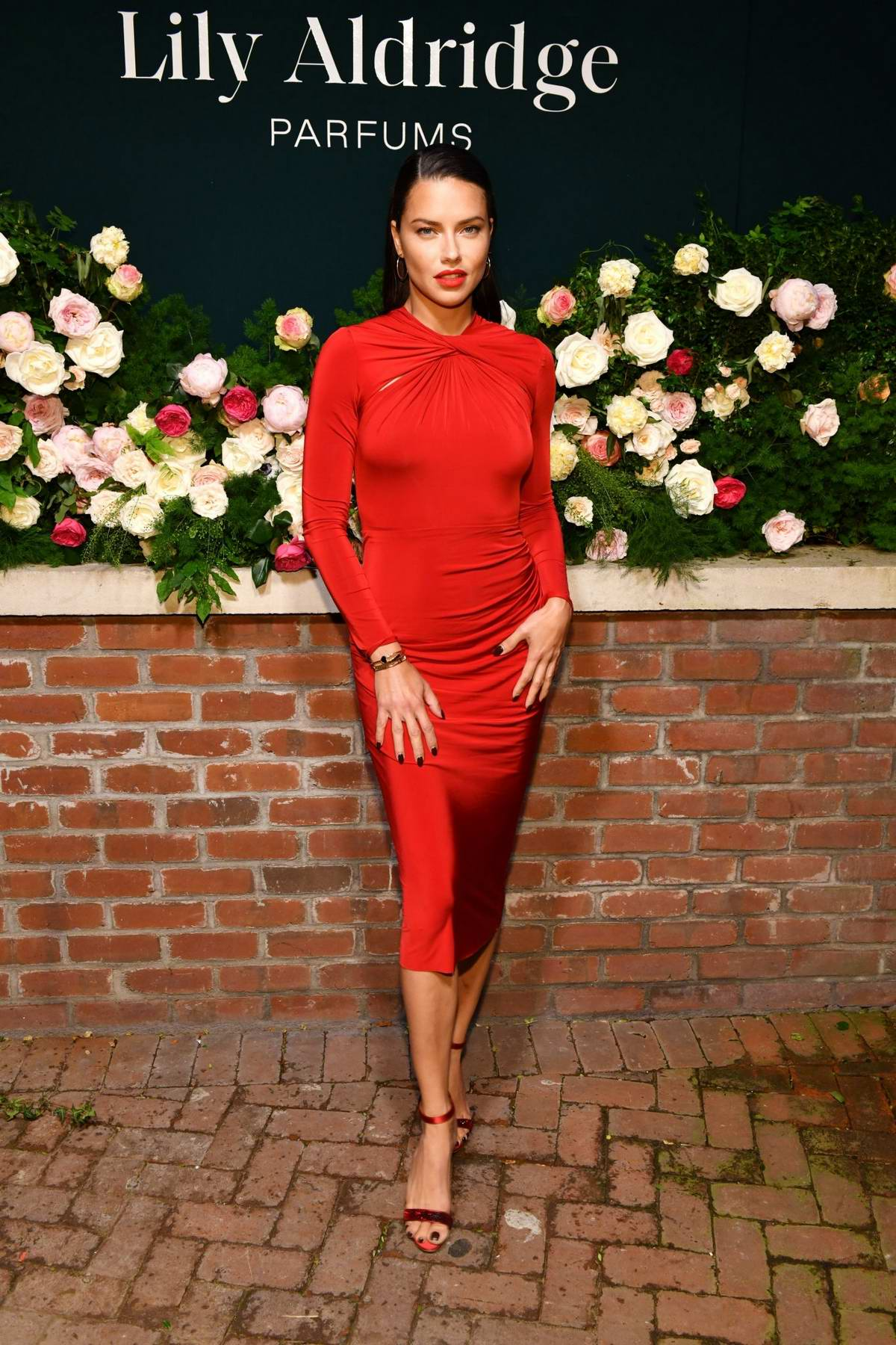 Adriana Lima attends the 'Lily Aldridge Parfums' launch event at The Bowery Terrace in New York City