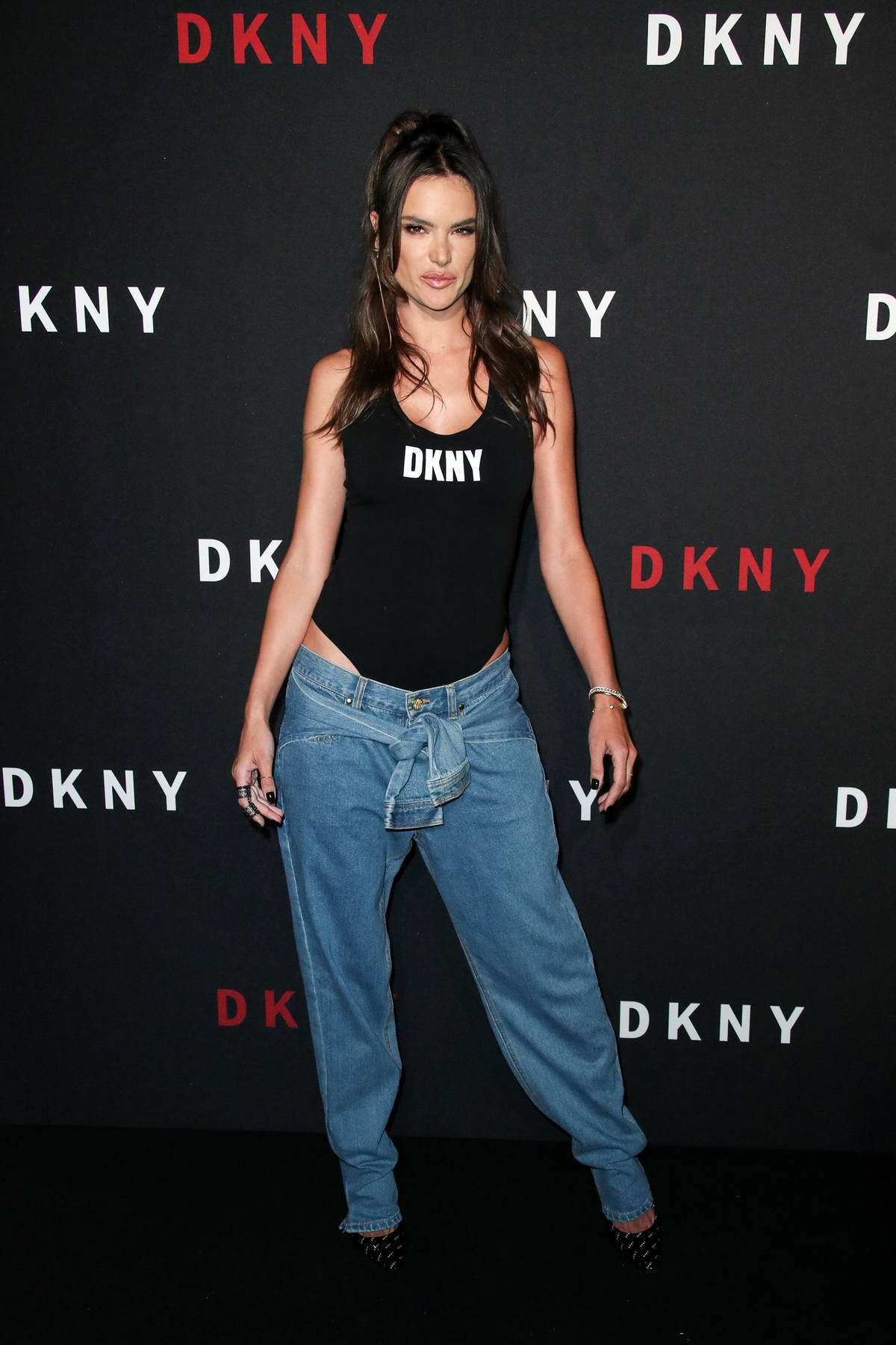 Alessandra Ambrosio attends DKNY 30th birthday party during New York Fashion Week in New York City