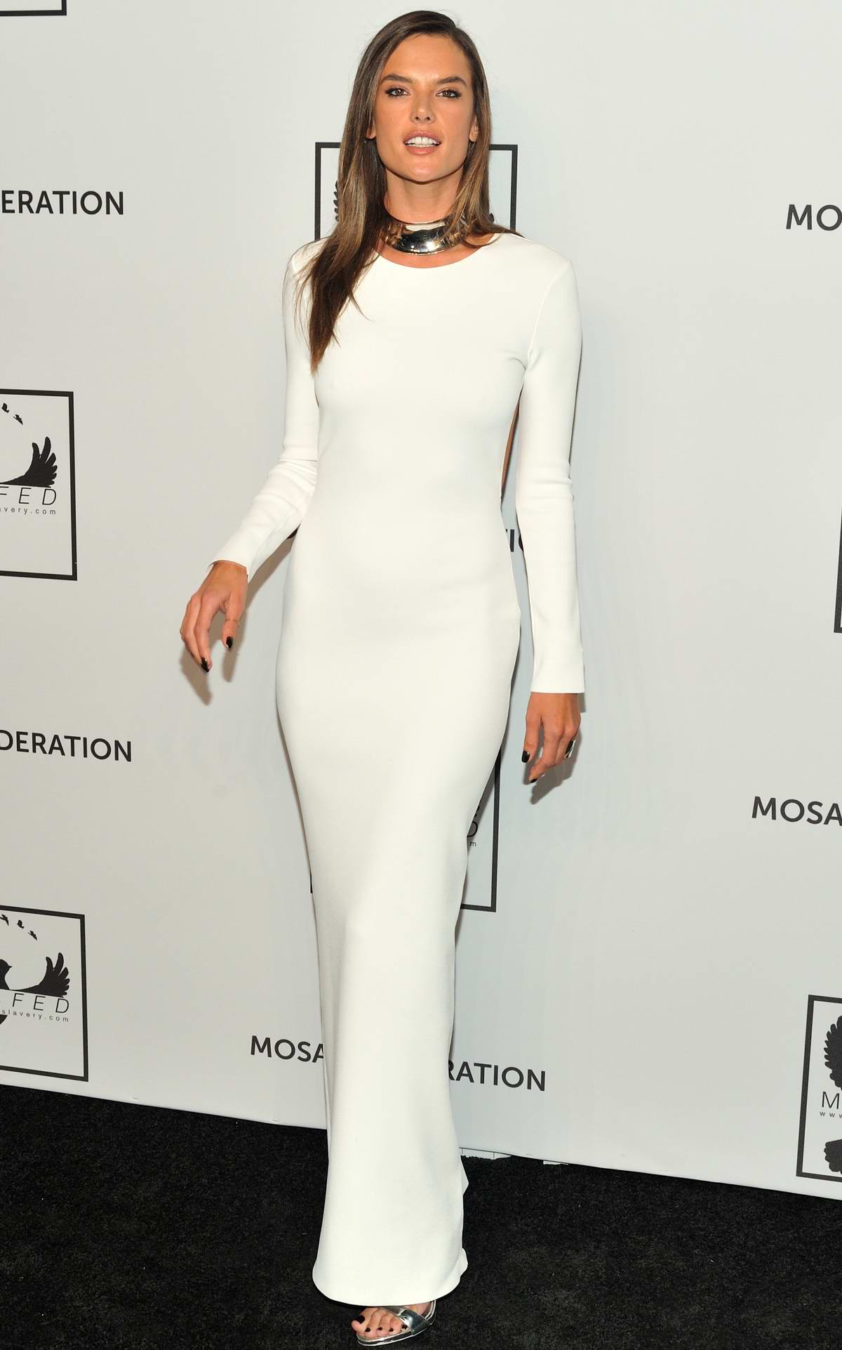 Alessandra Ambrosio Attends The Mosaic Hederation Gala