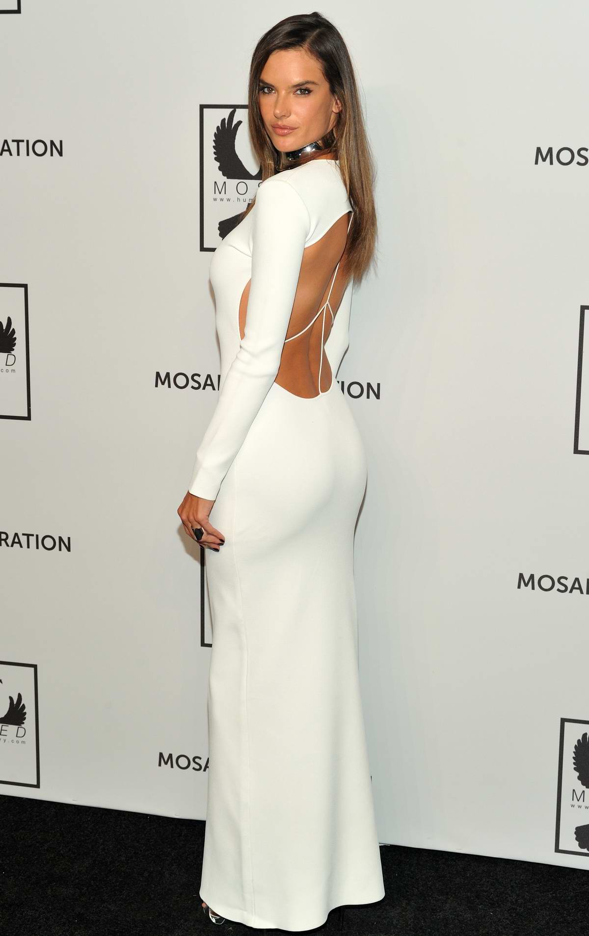 Alessandra Ambrosio attends the Mosaic Hederation Gala Against Human Slavery at Cipriani 42 in New York City