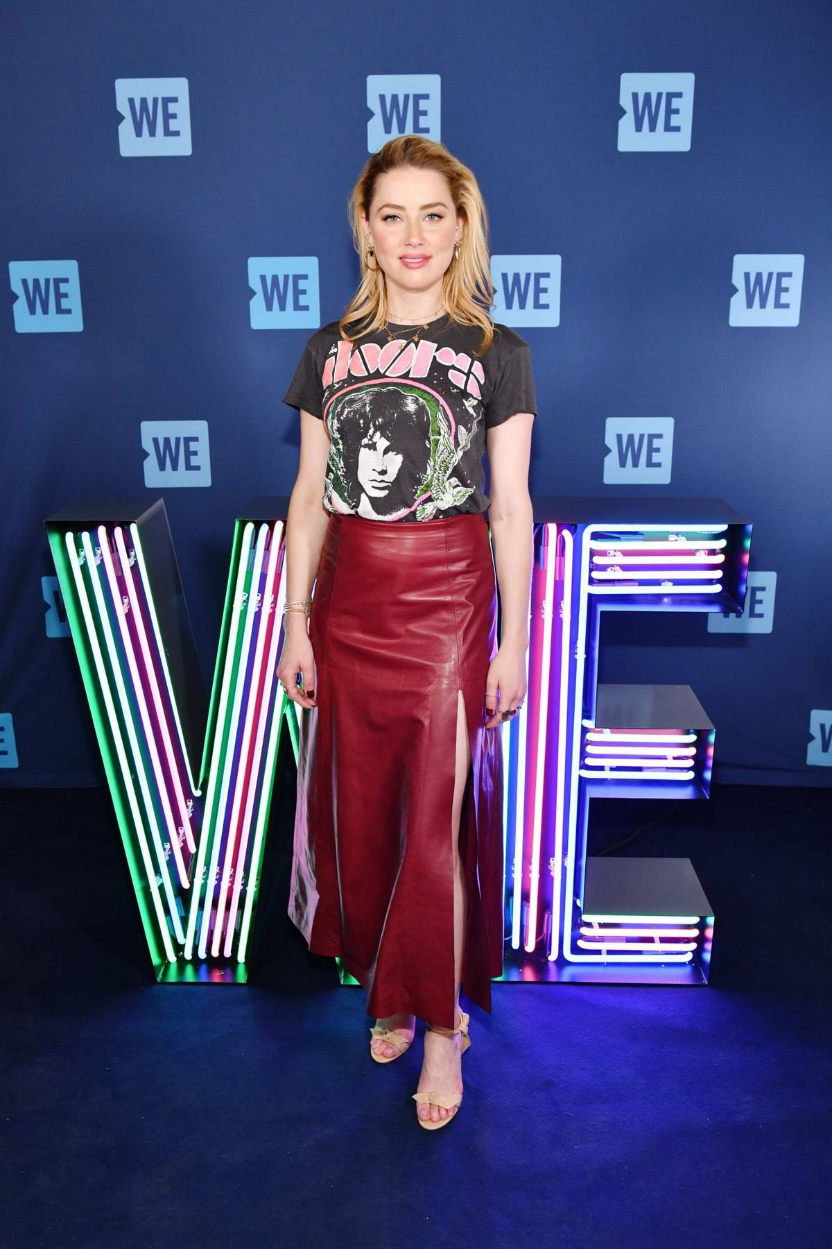 Amber Heard attends the WE Day UN 2019 at Barclays Center in Brooklyn, New York City