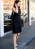 Ana de Armas spotted in a black dress as runs a few errands and shops at Bristol Farms in Los Angeles