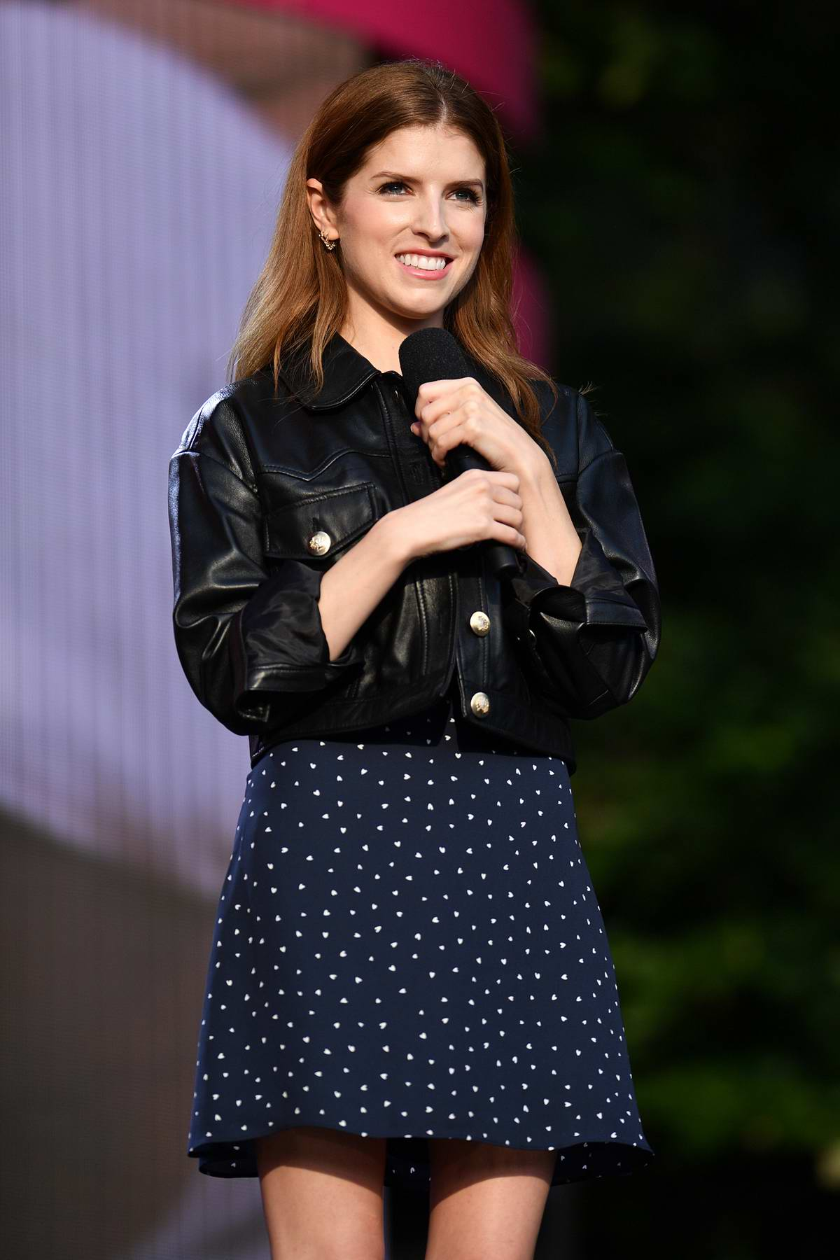 Anna Kendrick attends the 2019 Global Citizen Festival 'Power The Movement Onstage' in New York City