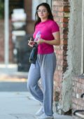 Ariel Winter spotted in pink top and sweatpants as she leaves an 'Actors Studio' class in Studio City, Los Angeles