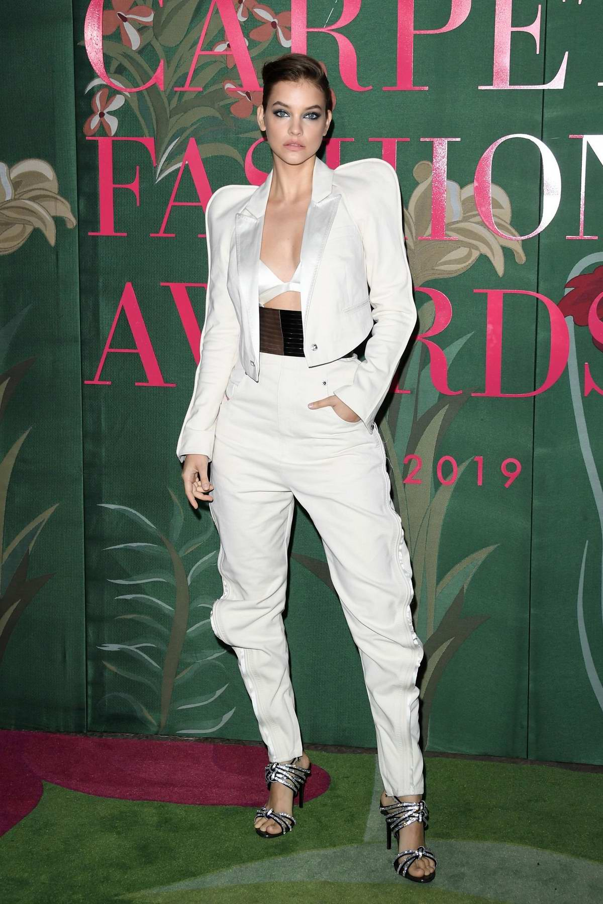 Barbara Palvin attends The Green Carpet Fashion Awards 2019 in Milan, Italy