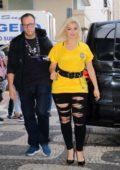 Bebe Rexha greets fans while heading to the City of Rock in Barra da Tijuca in Rio De Janeiro, Brazil