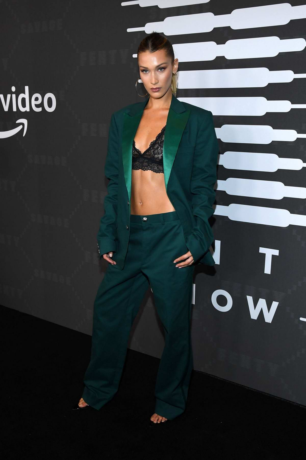 Bella Hadid attends Savage X Fenty Show during New York Fashion Week at Barclays Center in Brooklyn, New York City