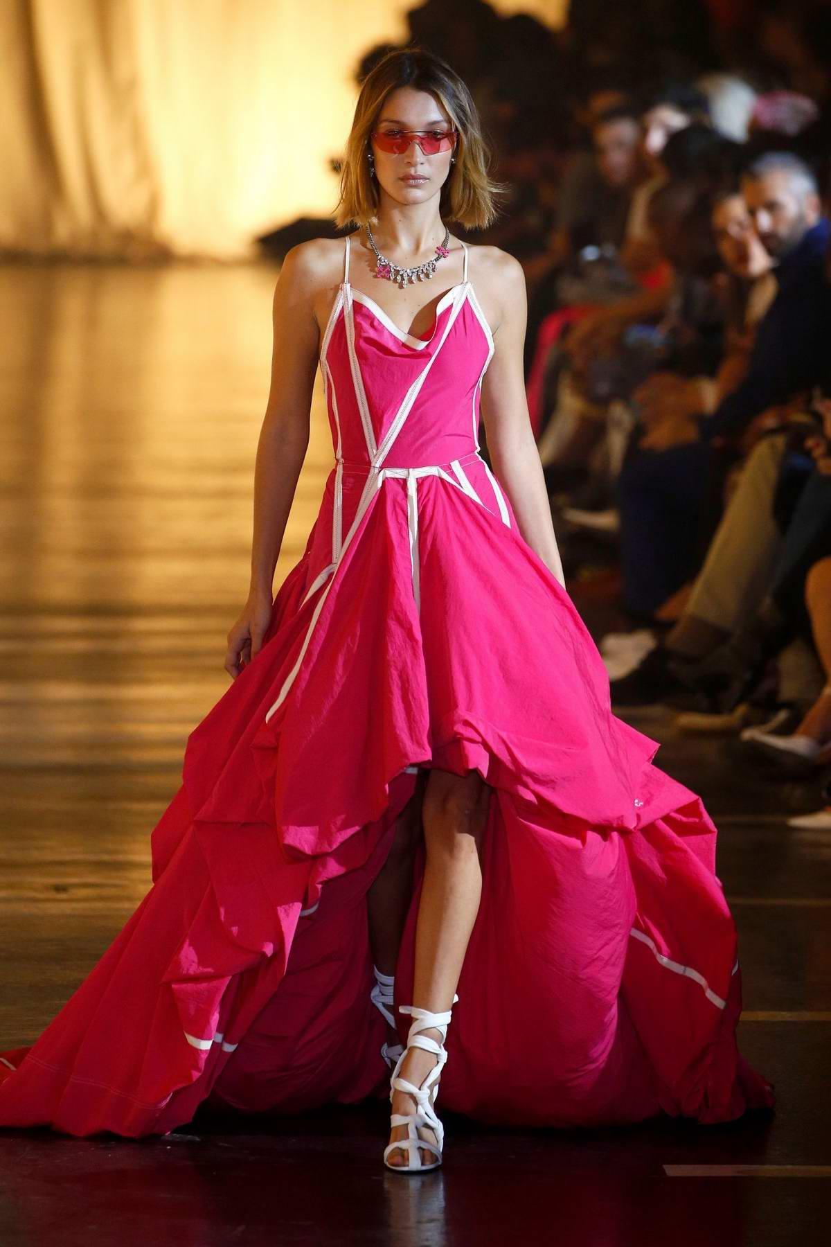 Bella Hadid walks runway at the Off-White Womenswear Spring/Summer 2020 show during Paris Fashion Week in Paris, France