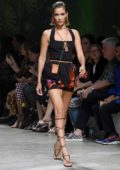 Bella Hadid walks the runway at the Versace show during Milan Fashion Week, Spring/Summer 2020 in Milan, Italy