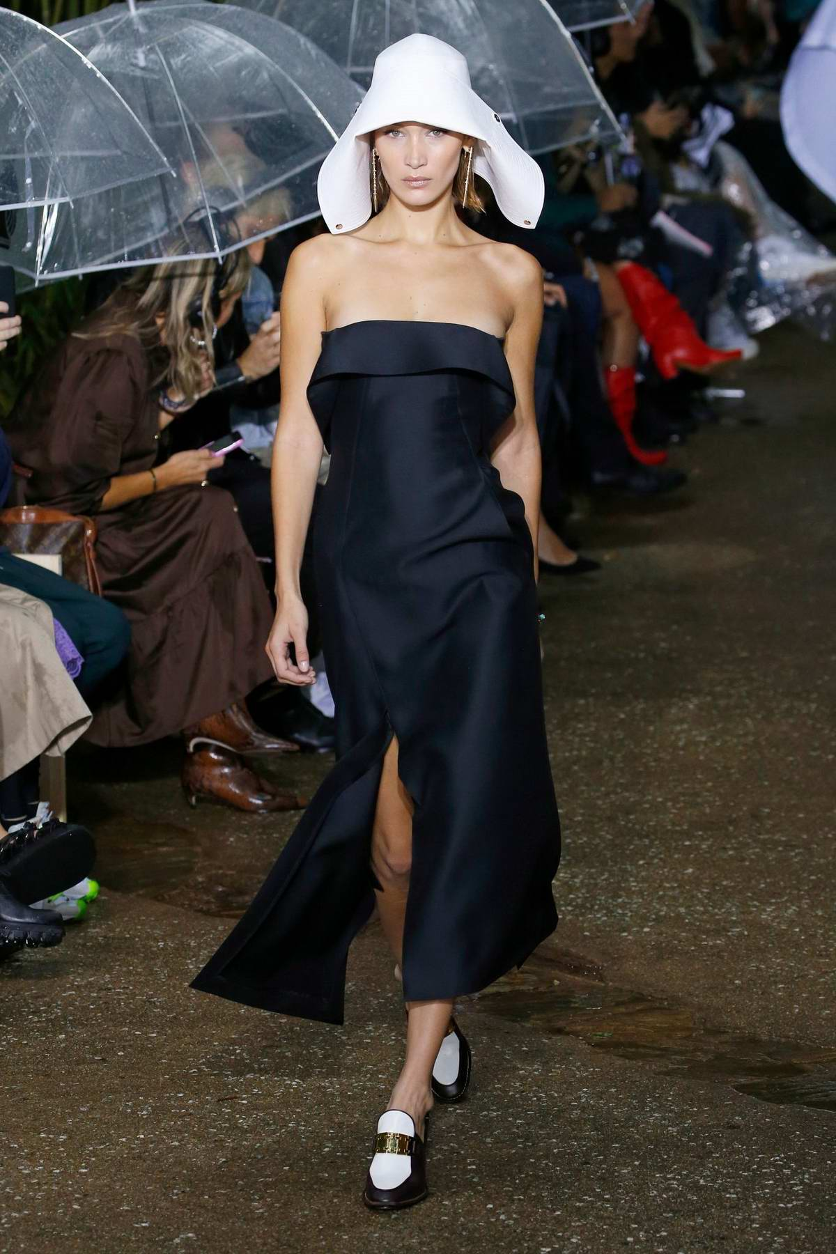Bella Hadid walks the runway for the Lanvin Ready to Wear, SS 2020 Show during Paris Fashion Week in Paris, France