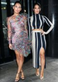 Brie and Nikki Bella seen at Good Day NY promoting the launch of the Belle Radici wine brand in New York City
